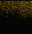 gold glitter falling stars background vector image vector image