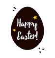 Happy Easter black and gold greeting card with egg vector image