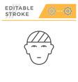 head injury editable stroke line icon vector image vector image