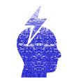 headache grunge textured icon vector image vector image