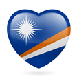 Heart icon of Marshall Islands vector image vector image