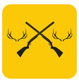 hunting club logo icon vector image vector image