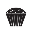 isolated cupcake icon vector image vector image