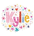 Kylie female name decorative lettering type design vector image vector image