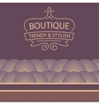 logo for boutique clothing accessories jewelry and vector image vector image