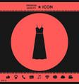 long dress evening dress or sundress with belt vector image