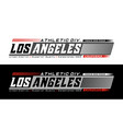 los angeles califronia typography design vector image vector image