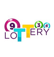 lottery bright commercial logotype with numbered vector image vector image