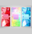 low poly banner designs vector image vector image