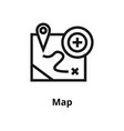 map line icon vector image