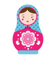 matryoshka traditional russian nesting doll vector image
