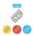 money dollar cash flat trendy icon vector image vector image