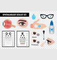 ophtalmic eye oculist set vector image vector image