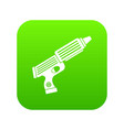 plastic gun toy icon digital green vector image