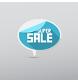 Retro 3d Blue Super Sale Tag Label vector image vector image
