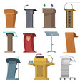 rostrum podium stand for speaker speech vector image vector image