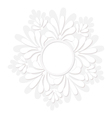 round decorative floral frame vector image