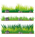 seamless design for grass and rocks vector image vector image