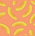 seamless pattern with ripe mango slice vector image vector image