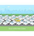 Self-driving car infographic vector image vector image