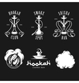 Set of hookah labels badges and design elements vector image vector image