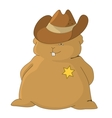 sheriff pillow vector image vector image