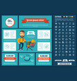 shopping flat design infographic template vector image