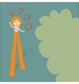 stilt walker juggler vector image vector image