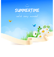 Summer background with grass vector image vector image