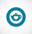 teapot icon bold blue circle border vector image vector image