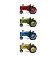threewheeled tractor vector image vector image