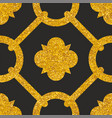 tile decorative floor gold and dark grey tiles vector image vector image