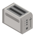 toaster icon isometric style vector image