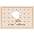 Traditional Valentine Day Heart Greeting Template vector image vector image