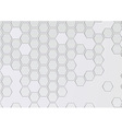 Transparent layered background with hexagons vector image vector image