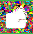 wallet sign white icon on vector image