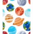 watercolor space baby pattern vector image