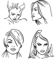 woman faces vector image vector image