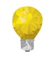 yellow light bulb abstract geometric