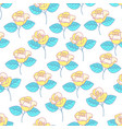 yellow rose flower pattern vector image vector image
