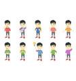 little asian boy set vector image