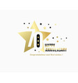70 anniversary starry emblem celebration label vector image vector image