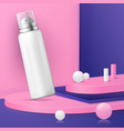 abstract scene with podium and cosmetics vector image vector image