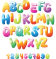 Alphabet and numbers vector | Price: 1 Credit (USD $1)