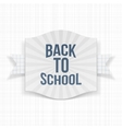 Back to School striped Emblem vector image