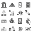 Banking Icon Black Set vector image vector image