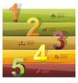 banners with color numbers vector image vector image