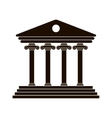 black Greek colonnade vector image vector image