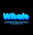 blue blend 3d light alphabet or letter text vector image vector image