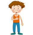 Boy with infectious disease vector image vector image